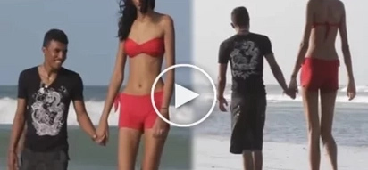 Successful love story: This tall model found her true love!