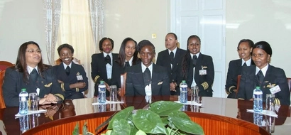 IN PHOTOS: KQ Female Pilots Pledge Support For Maternal Health Concern In The Country