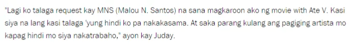 Vilma Santos and Judy Ann, to star in an upcoming movie? Read on and find out what Juday has to say