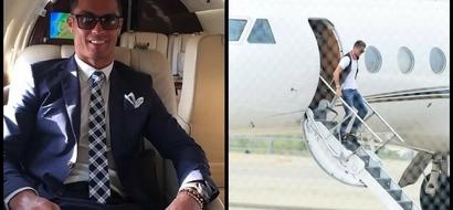 Cristiano Ronaldo's plane CRASHES in Barcelona (photo)