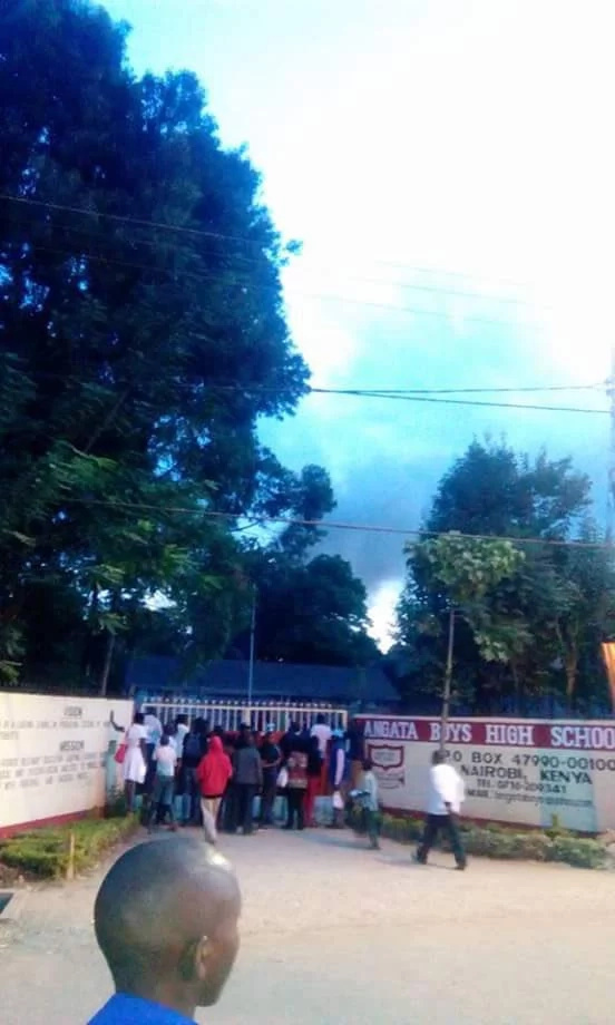 Breaking! Langata High School, Ruiga Girls on fire (Photos, Video)