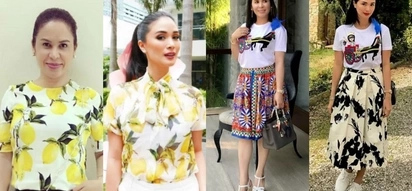 Style twinnies! Heart Evangelista and Jinkee Pacquiao have the same classy fashion taste