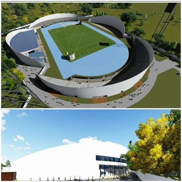 Uhuru reveals state of the art stadium and TUKO.co.ke has all the photos