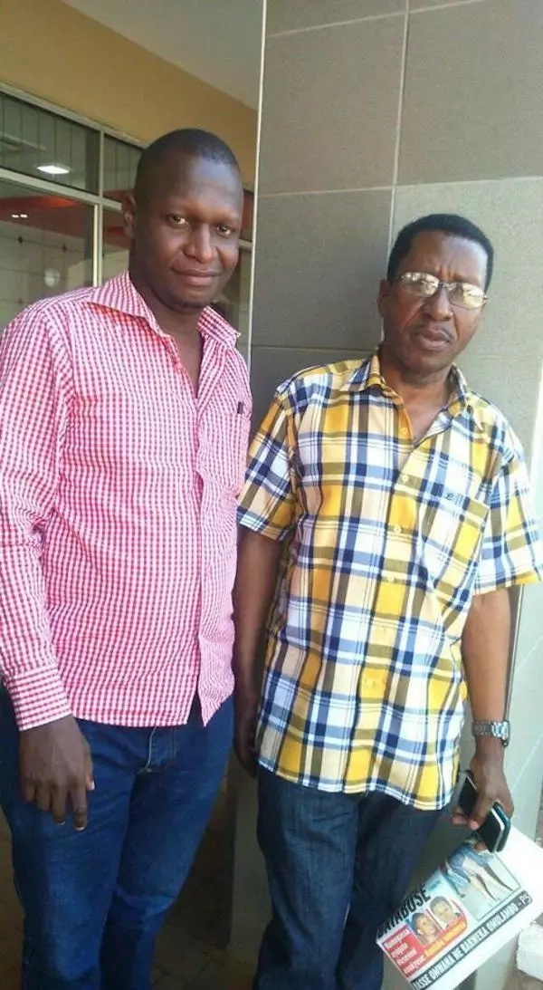 Joel Isabirye (left) has been romantically linked with many women. Photo: Red Pepper