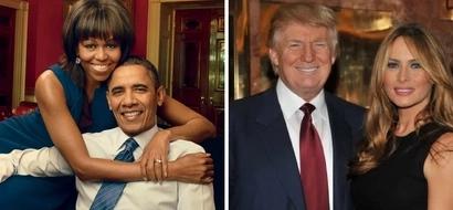Ni yupi mrembo zaidi? Picha 14 za Melania Trump na Michelle Obama