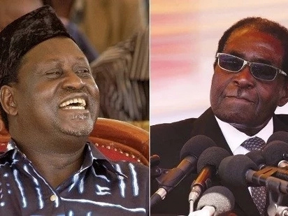 Raila reacts after Robert Mugabe resigned as Zimbabwe president