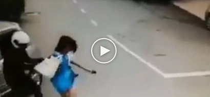 Nakakatakot na kawatan! Violent hold-uppers on motorcycle victimizes helpless female student