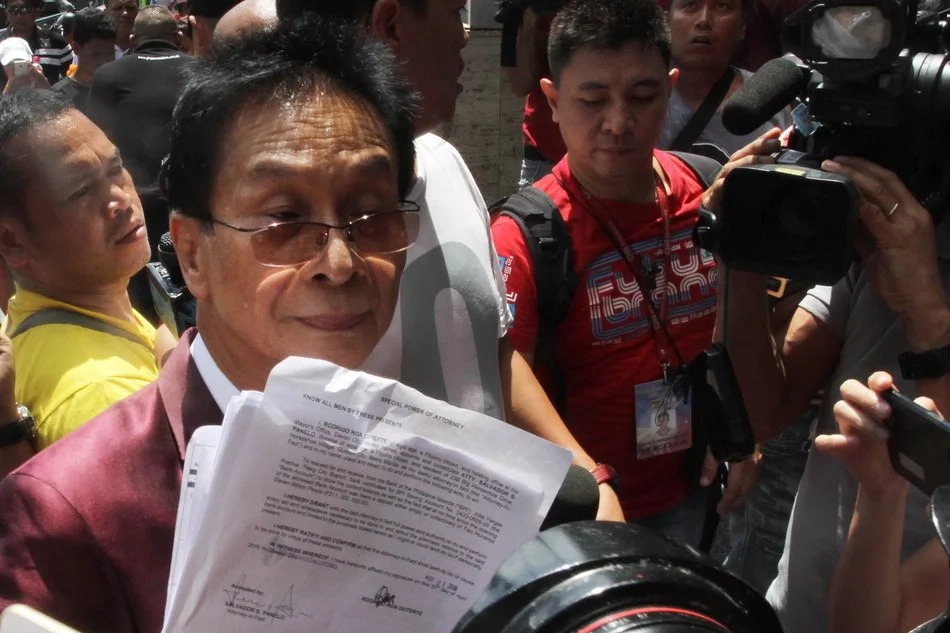 Duterte spokerperson Panelo denies parking violation