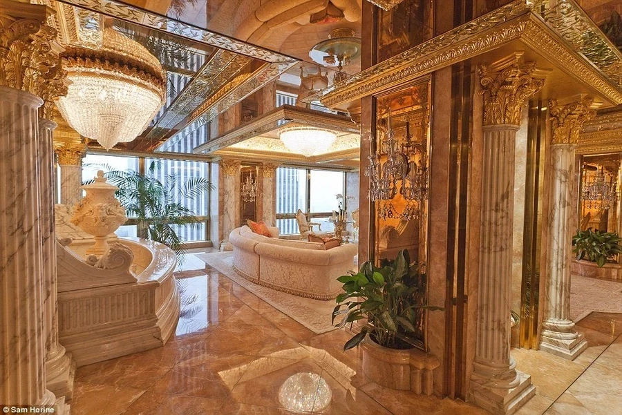 A walk into USA president Elect Donald Trumps luxurious house