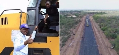 Machakos Governor Alfred Mutua tarmacs another road within hours