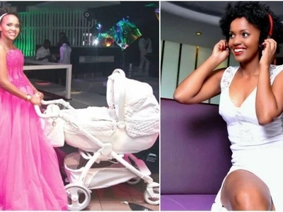 DJ Pierra Mackenna shocks Kenyans after squeezing her form in a tiny dress