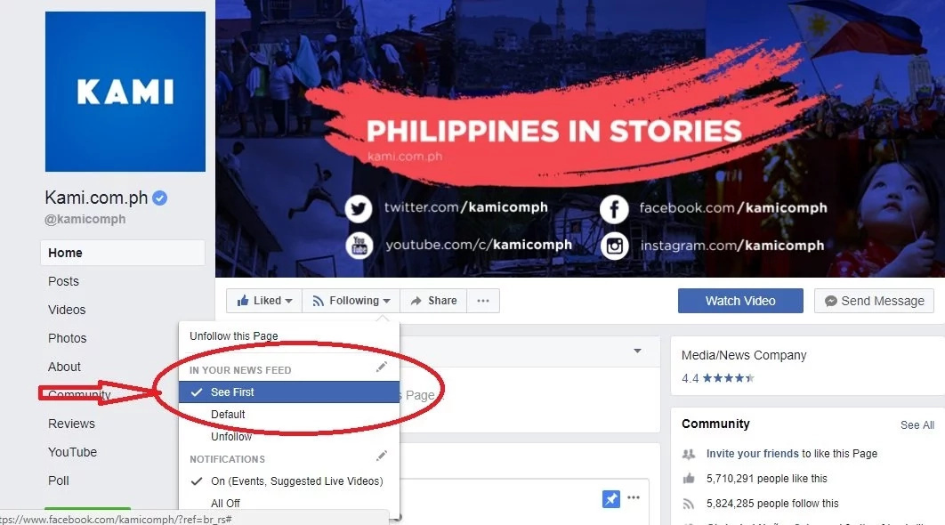 New Facebook algorithm: How to see KAMI.com.ph on your News Feed now