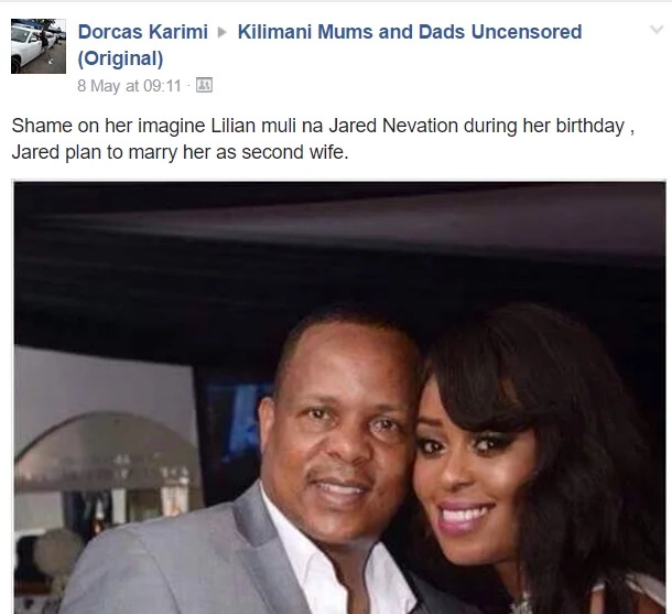 A Lady claims LILIAN MULI'S NEW BOYFRIEND plans to make her HIS SECOND WIFE, Kenyans go crazy