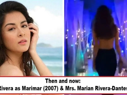 Di kumupas ang 'Thalia' ng Pinas! Mrs. Marian Rivera-Dantes shows off famous Marimar curves in video clip, makes netizens ask: 'Nasaan ang hustisya?'