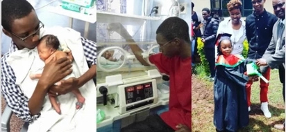 Kenyan dad shares photos of his now grown daughters who were born prematurely at 7 months