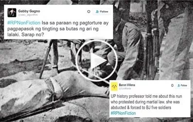 #RPNonFiction: Netizens share horrifying real-life  stories during Martial Law