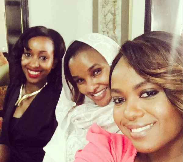 Janet Mbugua, Ann Kiguta and Lulu Hassan in one picture
