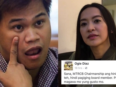Teh, ha? Ogie Diaz lambasts Mocha Uson after the latter threatened to resign from MTRCB because of SPG scenes from ABS-CBN shows