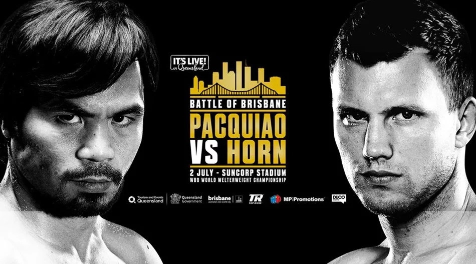 Pacquiao loses to Horn by unanimous decision. Angry celebrities tweet that Pacquiao was robbed!