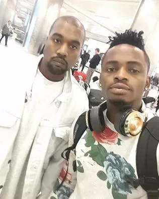 Singer Diamond meets Kanye West, see photo