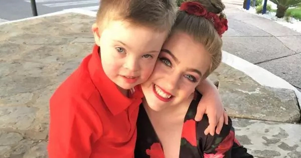 Her brother has Down Syndrome. She loves him with all of her heart that when she prepared a gift for him, everyone was moved to tears.