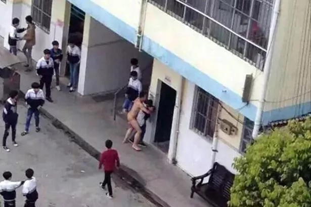 Naked janitor disrupts recess