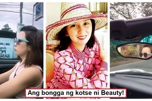 Kotse palang yayamanin na! Beauty Gonzalez drives off her luxurious top down car