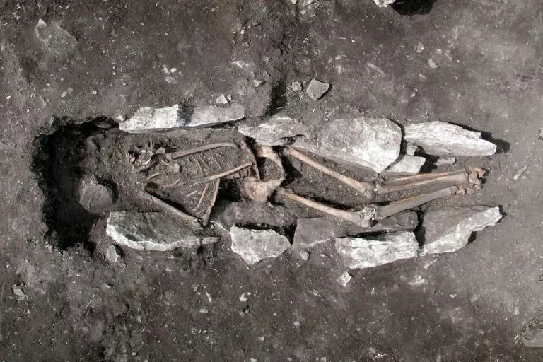 The remains of this boy might be proof of an ancient legend