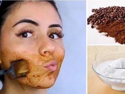 Bicarbonato de sodio y café, la mezcla perfecta para acabar con el vello facial