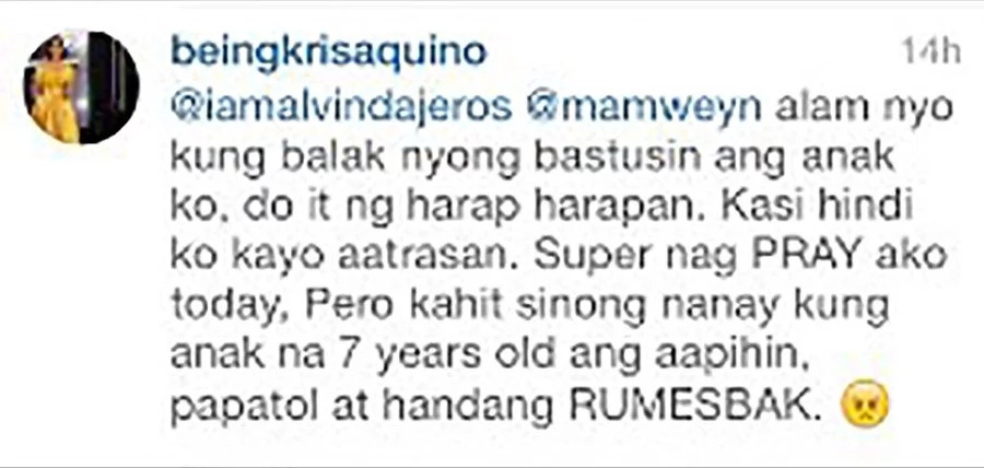 Kris Aquino's Reaction to Bimby's Basher Then and Now Proves: Maturity Comes With Experience