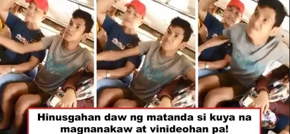 Nang dahil sa sukli! Video of young man who publicly disrespects old woman while riding on a jeepney goes viral