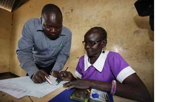 Heartwarming photo of granny, 72, sitting for KCPE exams