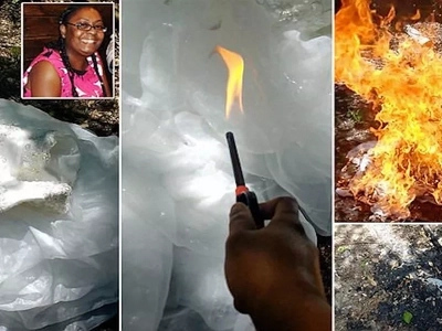 Bride-to-be, 41, sets her wedding dress on FIRE after catching her fiancé cheating (photos, video)