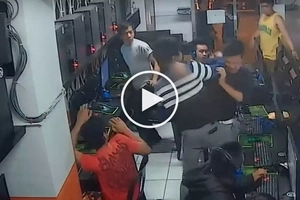 Violent Pinoy gamers viciously fight each other inside computer shop after playing DotA