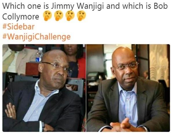 The striking resemblance between NASA billionaire financier Jimi Wanjigi and Bob Collymore has Kenyans talking