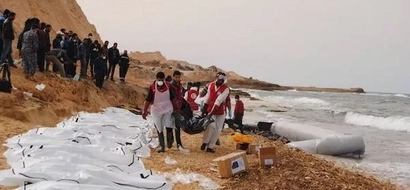 Sad! 74 African migrants DROWN after traffickers remove engine from their boat (photos)