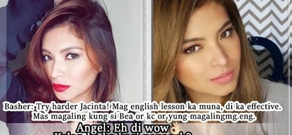 Gigil mo si Angel eh! Angel Locsin fires back at basher dissing her acting performance