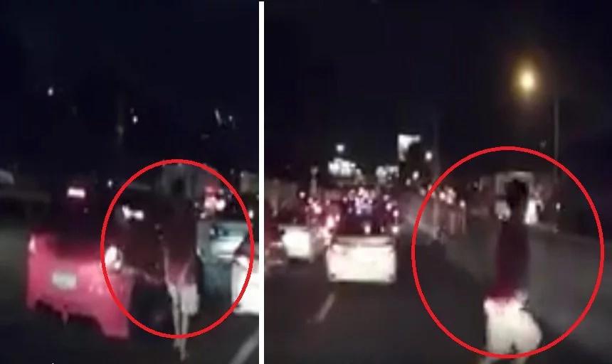 Batang kalye steals bag from car during traffic jam