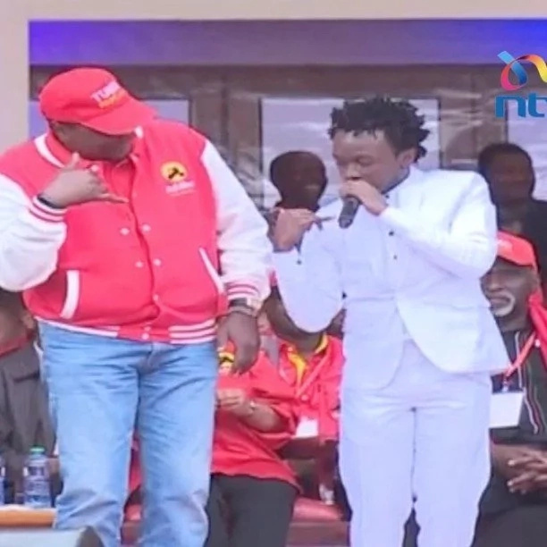 Singer Bahati shares how it feels like to sit on President Uhuru's chair