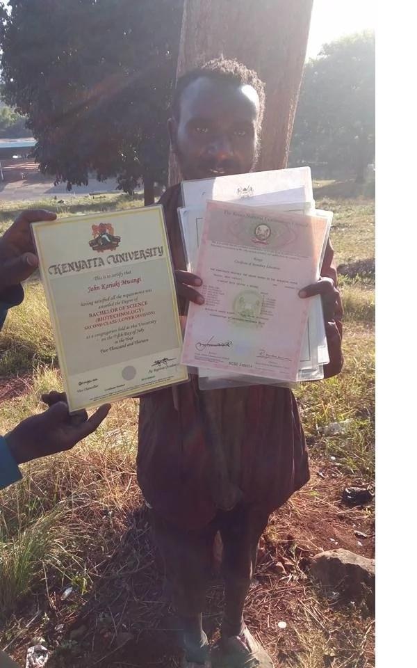 Kenyatta University graduate who lives as a beggar in the streets of Nairobi (photos)