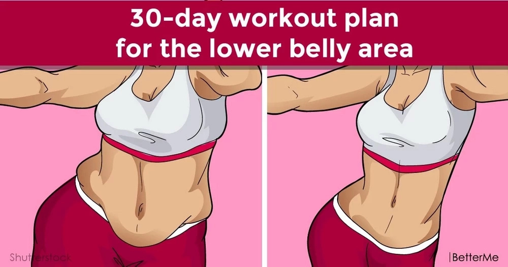 30-day workout plan to get rid of the lower belly fat