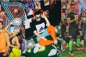 Celebs in their best gym outfit attend Raymond Gutierrez' colorful retro-inspired fitness birthday party