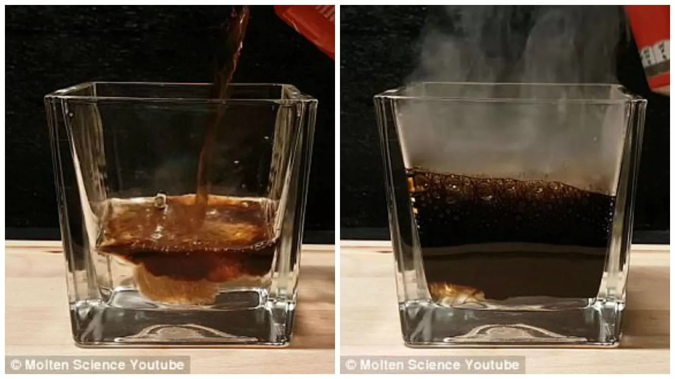 Worrying! See what happens when Coca Cola mixes with your stomach acid (photos, video)