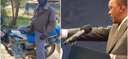 Boda Boda rider fools Uhuru's security that he's an 'important person', seats close to Uhuru