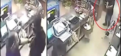 Patayan sa tindahan! Brave cashier defeats deadly robbers in scary store gunfight