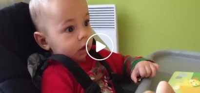 This baby hears a lion roar for the first time and his reaction is priceless!