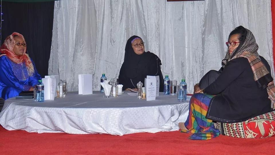 Margret Kenyatta stuns in a Buibui while hosting muslim women at State House