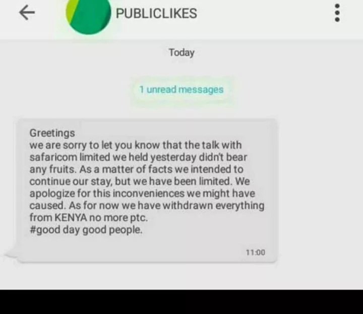 Agony for Kenyans as the Publiclikes website closes shop, sinking millions
