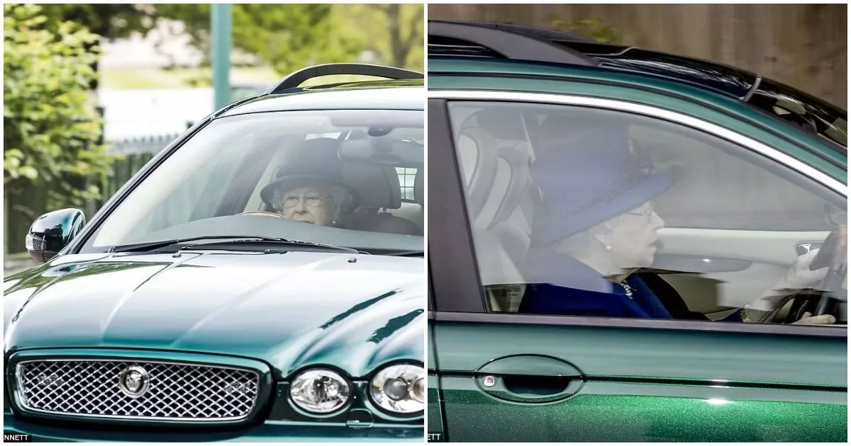 Meet 91-year-old Queen Elizabeth who was spotted driving from church (photos)