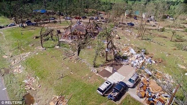 Several tornadoes swept through Texas, Arkansas and Missouri
